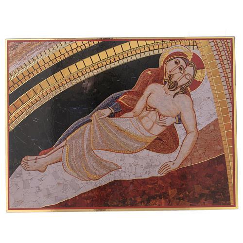 Quadro stampa La Pietà di Rupnik 20x30 1