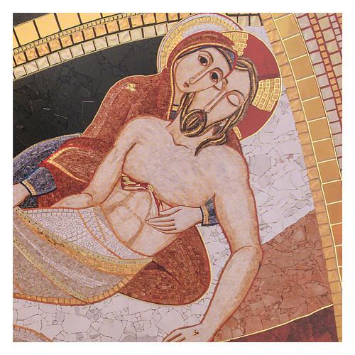 Quadro stampa La Pietà di Rupnik 20x30 2