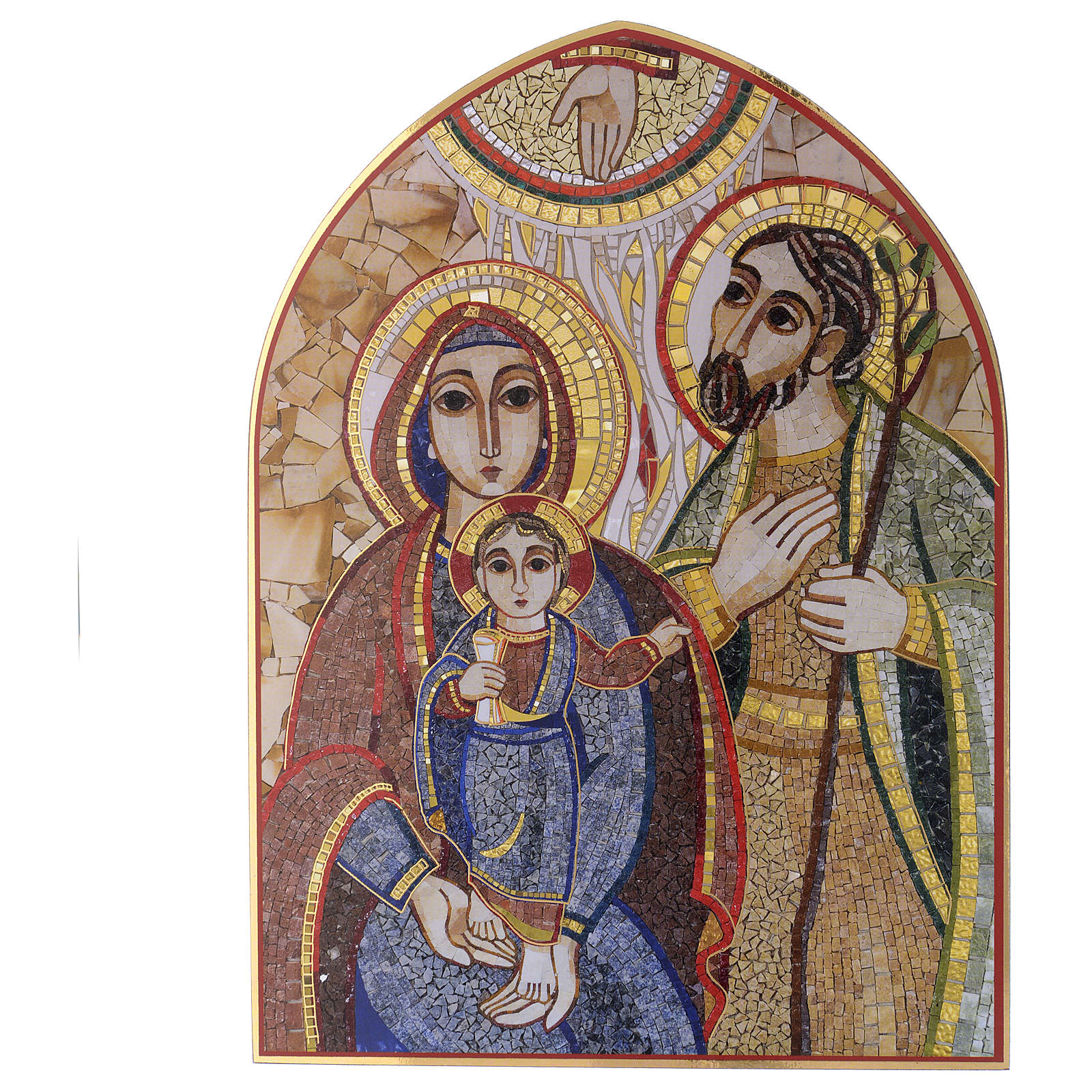 Quadro S. Famiglia mosaico Rupnik 20x25 3
