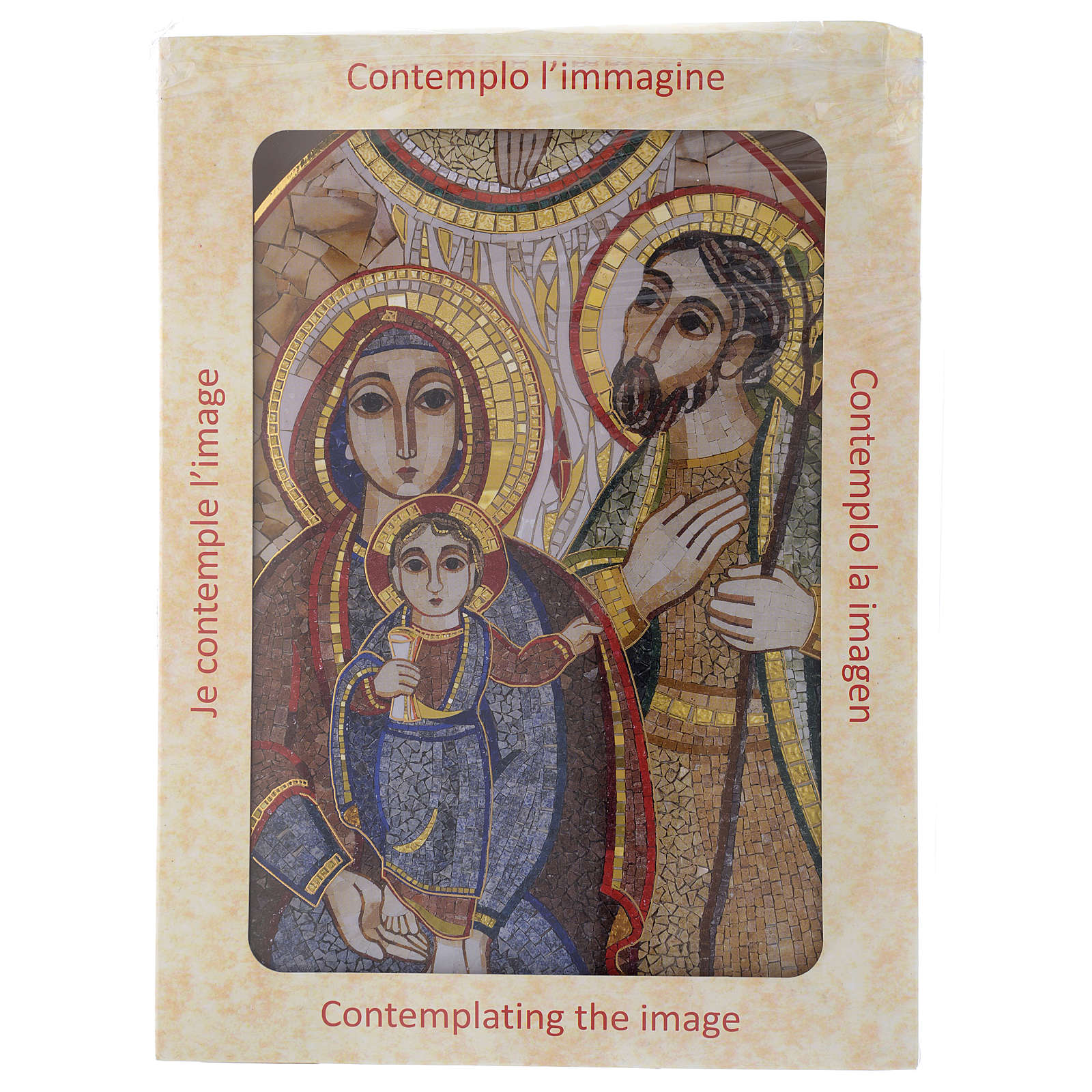 Obraz drewno Święta Rodzina Rupnik 20x30 3