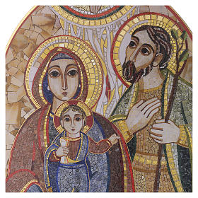 Obraz drewno Święta Rodzina Rupnik 20x30 s2