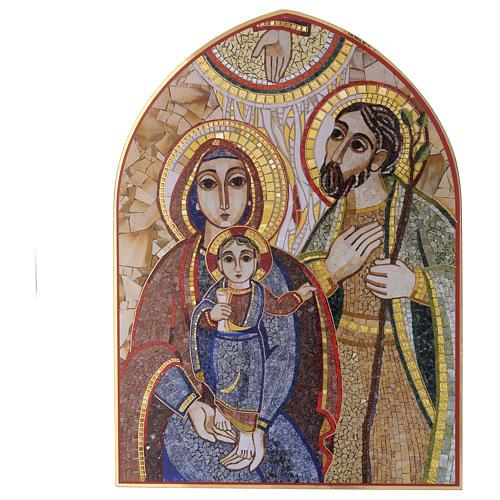 Obraz drewno Święta Rodzina Rupnik 20x30 1