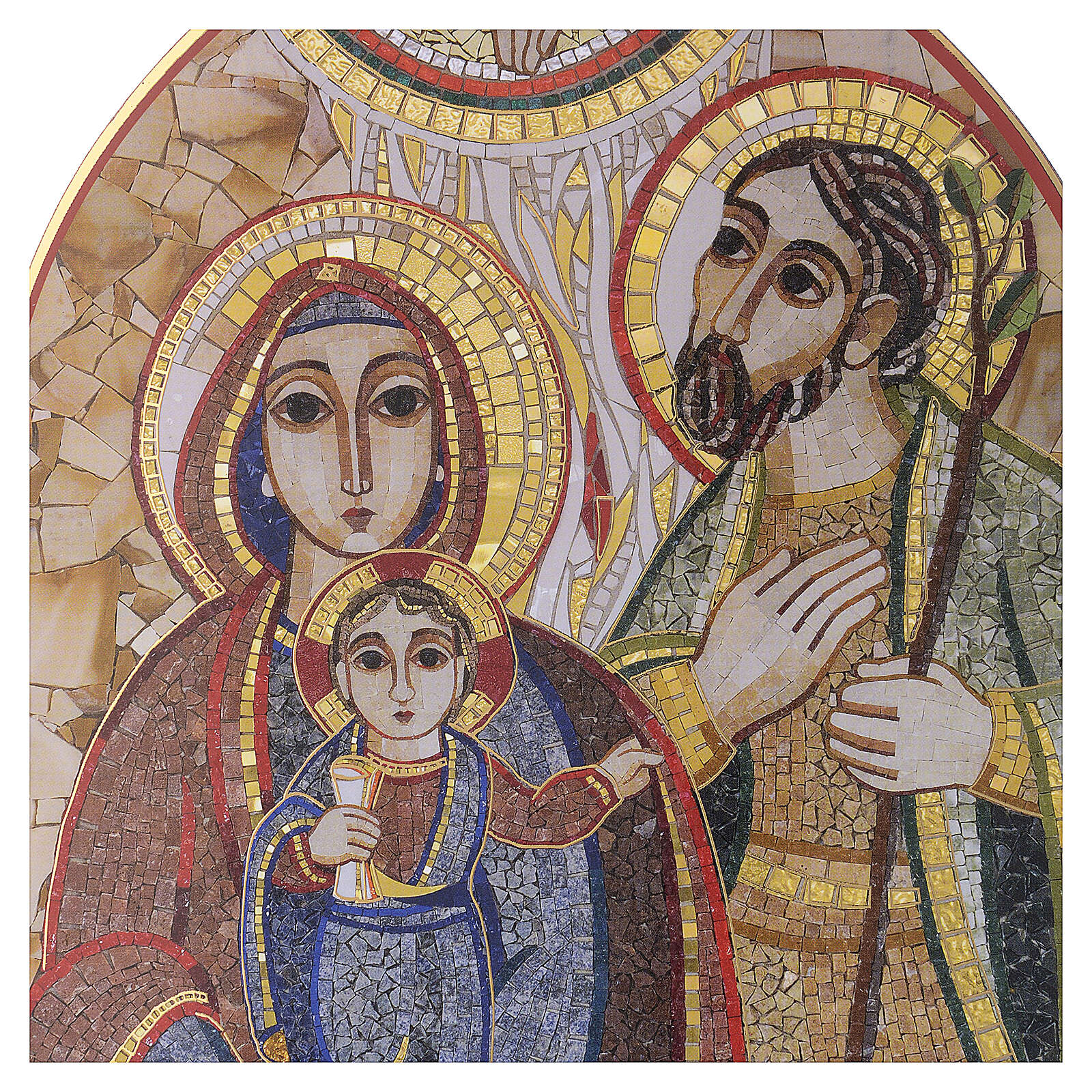 Print Holy Family by Rupnik 20x30 cm 3