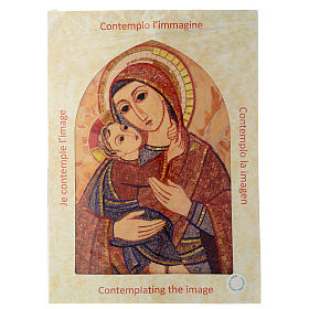 Quadro Madonna con Bambino Rupnik cuspide 30x25 cm s4
