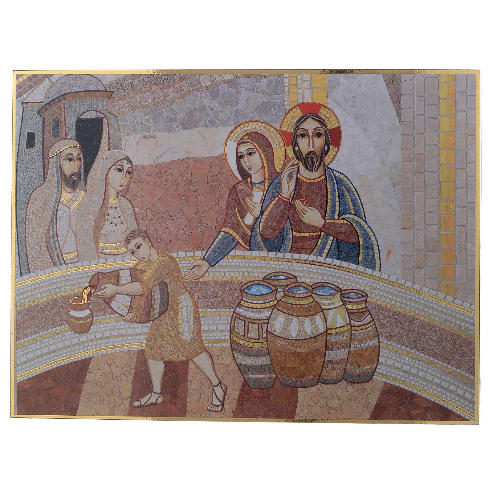 Tavola stampa Nozza di Cana Padre Rupnik 20x30 3