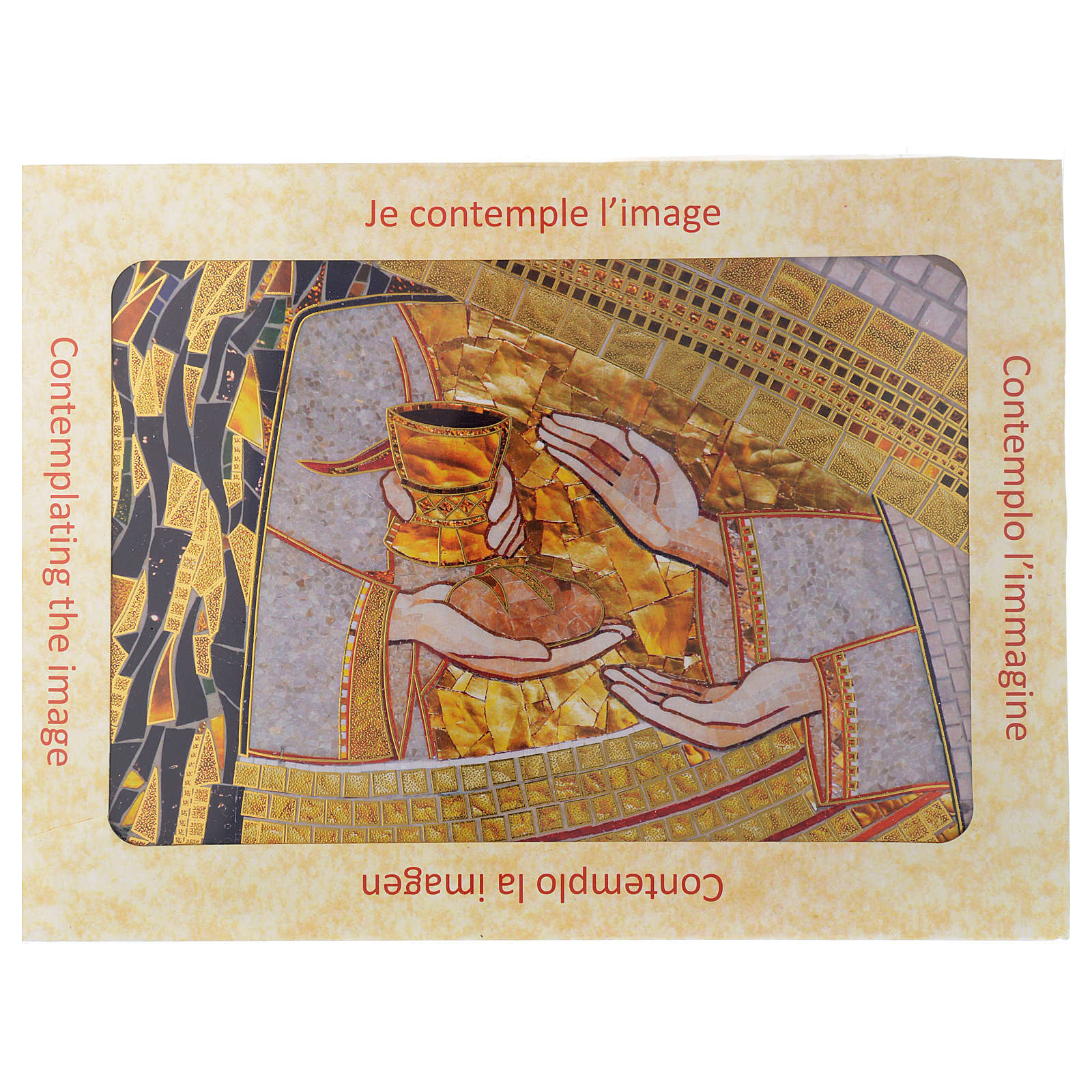 Tavola Eucarestia di Padre Rupnik 20x30 3