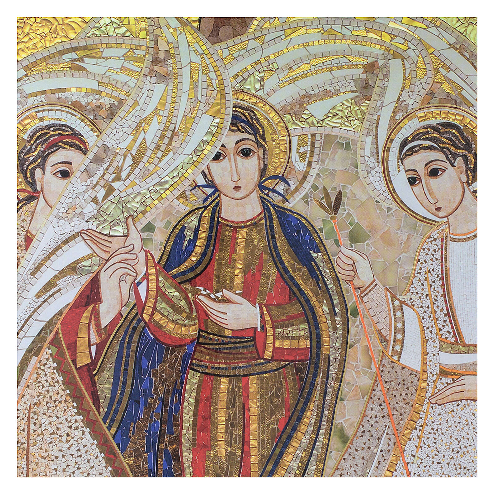 Bedruckte Tafel Heilige Dreifaltigkeit nach Pater Rupnik, 20x30 cm 3