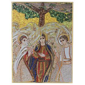 Bedruckte Tafel Heilige Dreifaltigkeit nach Pater Rupnik, 20x30 cm s1