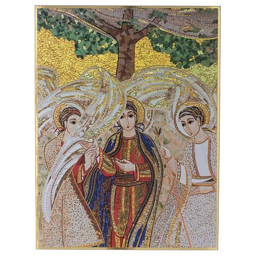 Bedruckte Tafel Heilige Dreifaltigkeit nach Pater Rupnik, 20x30 cm 1
