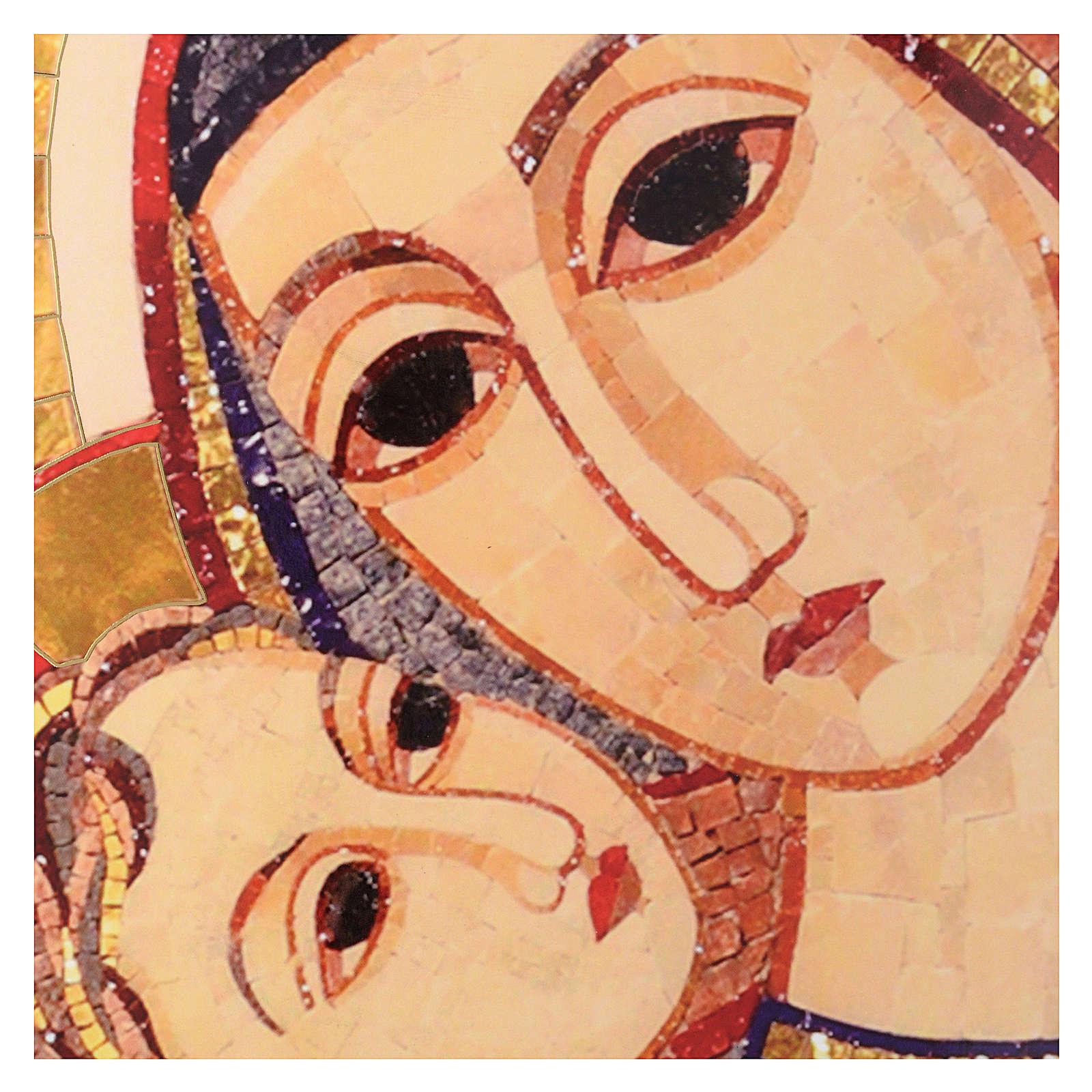Tavola immagine del Volto di Maria con Gesù di Rupnik 25x35 3
