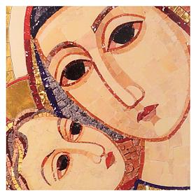 Tavola immagine del Volto di Maria con Gesù di Rupnik 25x35 s2