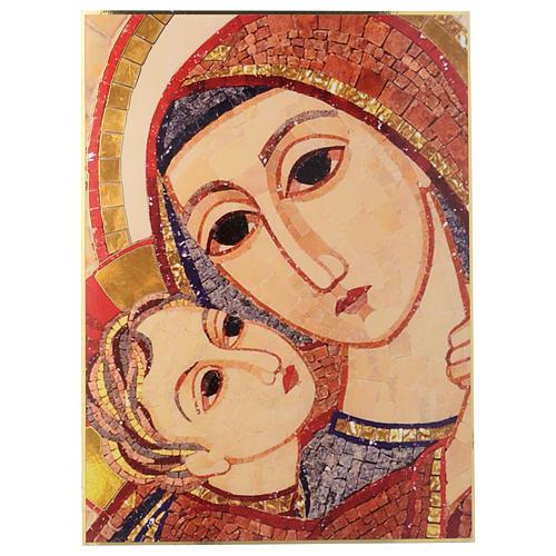 Tavola immagine del Volto di Maria con Gesù di Rupnik 25x35 1