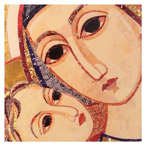 Tavola immagine del Volto di Maria con Gesù di Rupnik 25x35 2