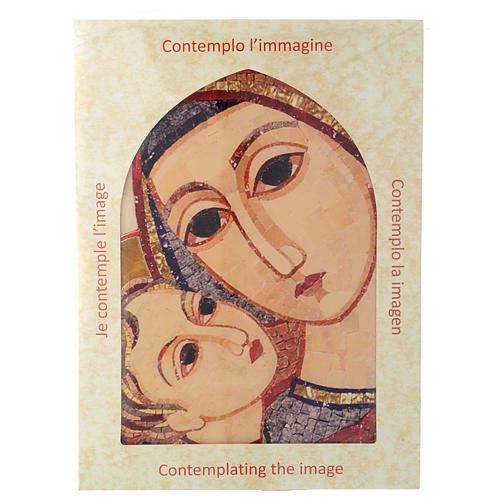 Tavola immagine del Volto di Maria con Gesù di Rupnik 25x35 5