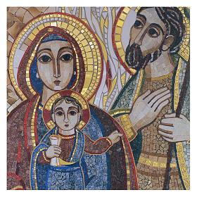 Tavola legno con stampa Sacra Famiglia mosaico Rupnik 25x35 s2