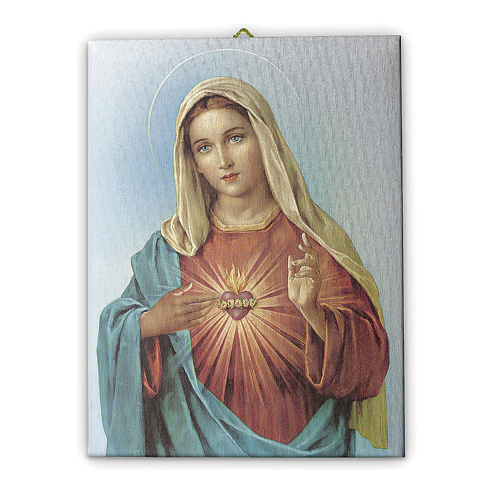 Cadre sur toile Coeur Immaculé de Marie 25x20 cm 3