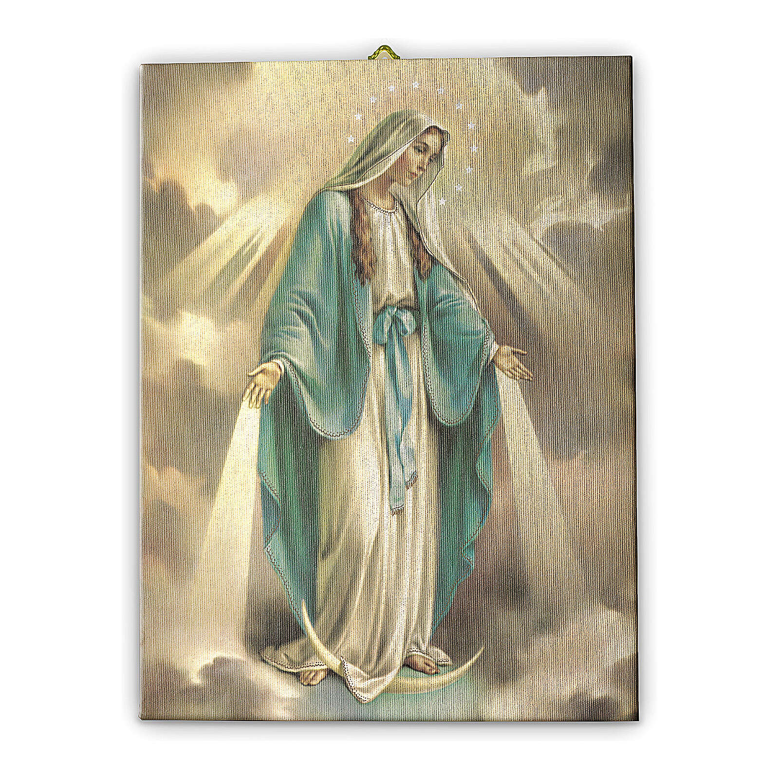 Quadro tela Nossa Senhora da Medalha Milagrosa 40x30 cm 3