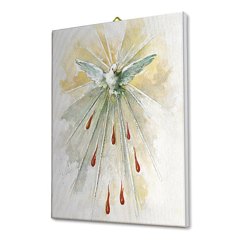 Cuadro sobre tela pictórica Espíritu Santo 25x20 cm 2
