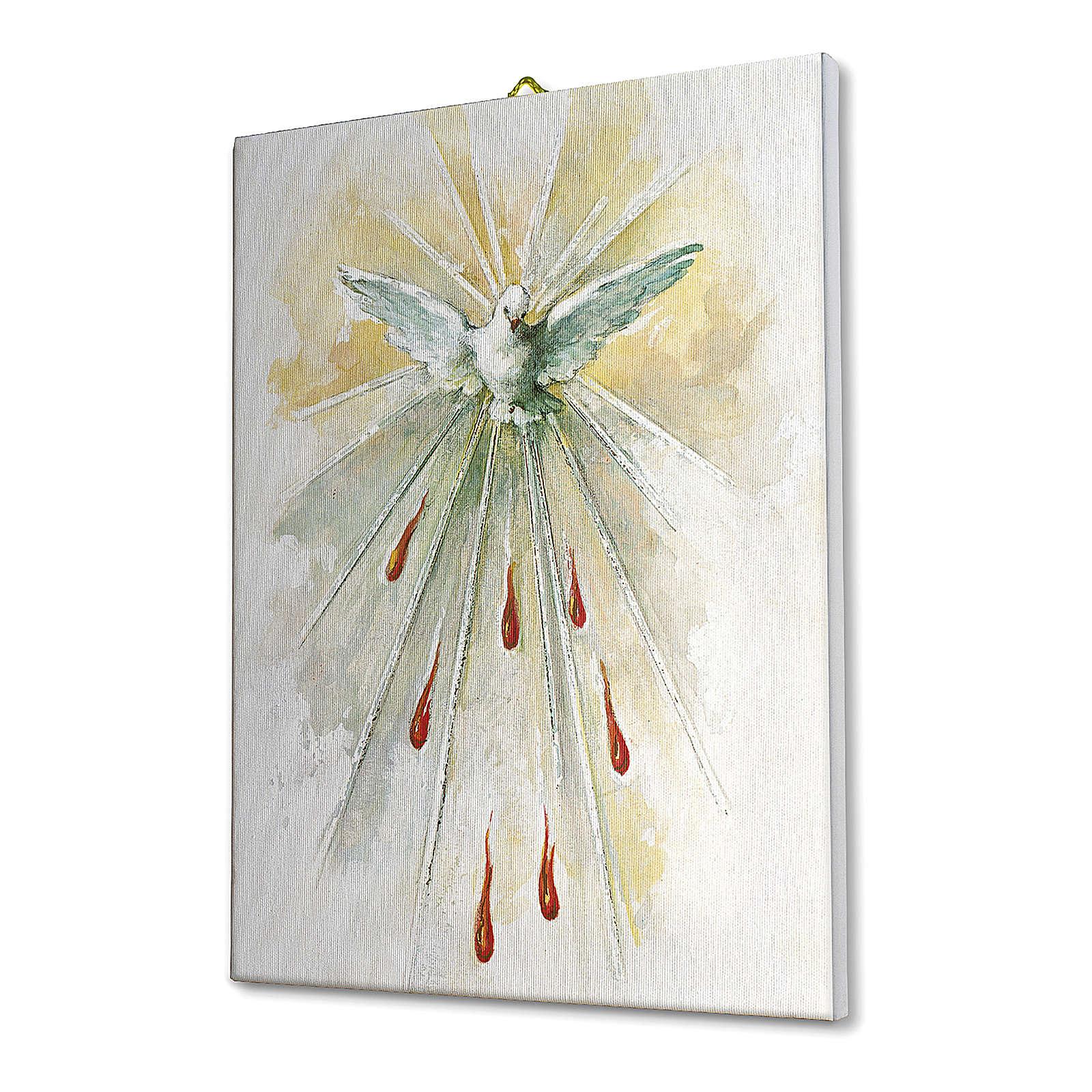 Quadro su tela pittorica Spirito Santo 25x20 cm 3