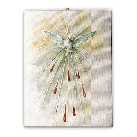 Quadro su tela pittorica Spirito Santo 25x20 cm s1