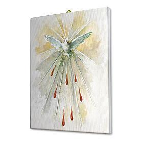 Quadro su tela pittorica Spirito Santo 25x20 cm s2