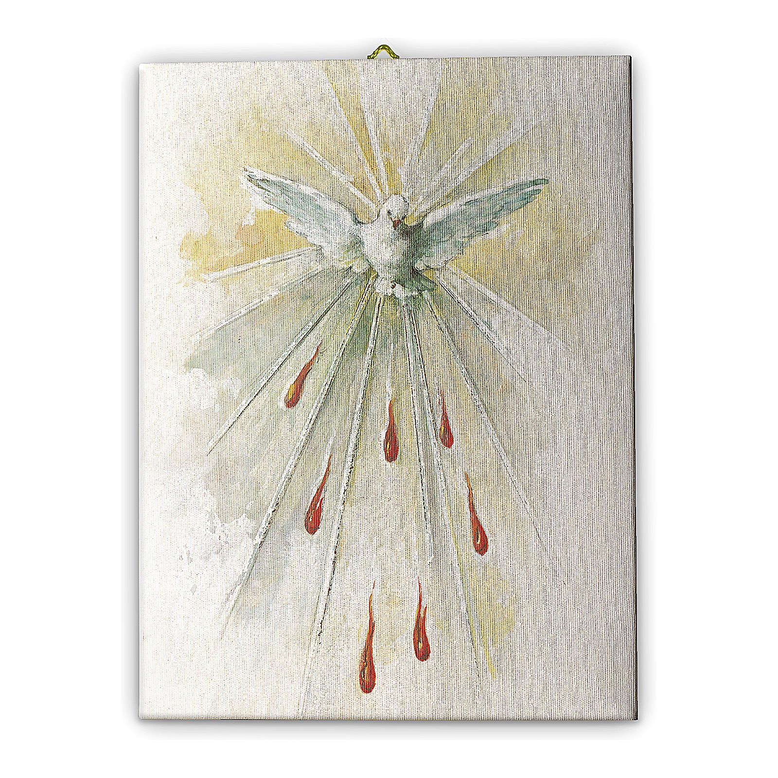 Quadro su tela pittorica Spirito Santo 70x50 cm 3