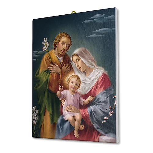Quadro su tela pittorica Sacra Famiglia 40x30 cm 2