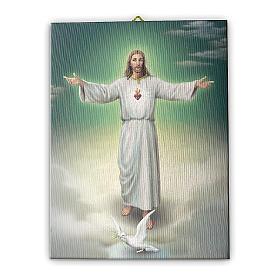 Quadro su tela pittorica L'abbraccio di Gesù 25x20 cm s1
