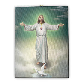 Quadro su tela pittorica L'abbraccio di Gesù 40x30 cm s1