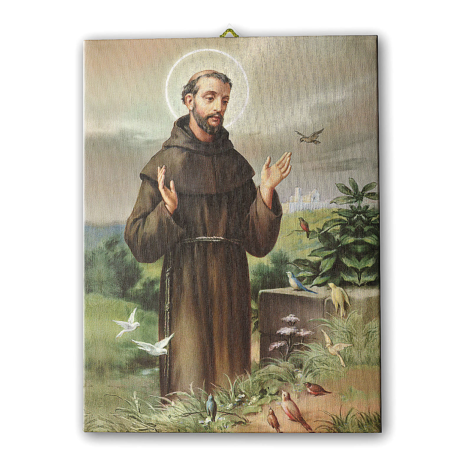 Painting on canvas Saint Francis of Assisi 25x20 cm 3