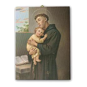 Cadre sur toile St Antoine de Padoue 25x20 cm s1