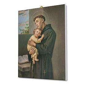 Cadre sur toile St Antoine de Padoue 25x20 cm s2