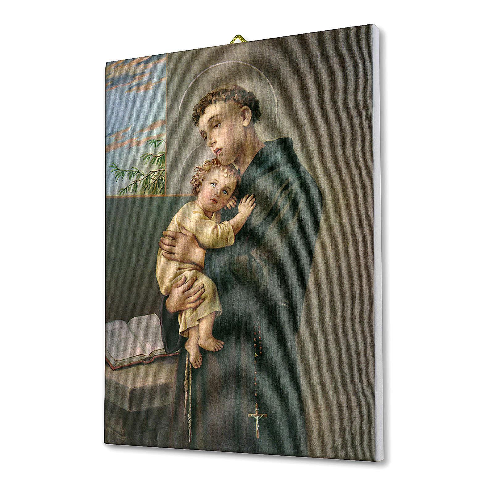 Cadre sur toile St Antoine de Padoue 40x30 cm 3
