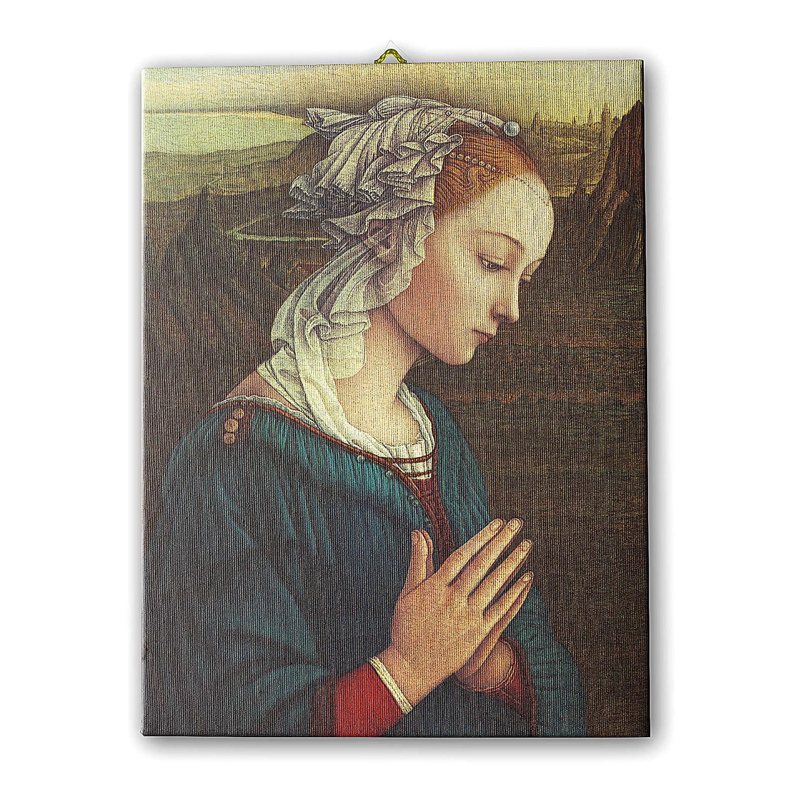 Quadro su tela pittorica Madonna del Lippi 25x20 cm 3