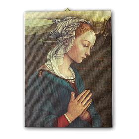 Quadro su tela pittorica Madonna del Lippi 25x20 cm s1