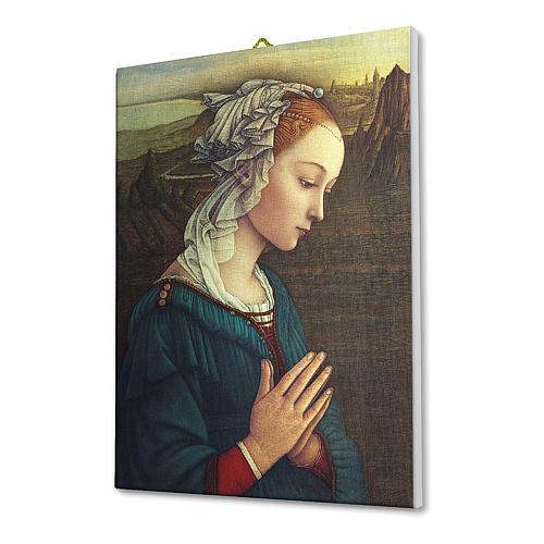 Quadro su tela pittorica Madonna del Lippi 25x20 cm 2