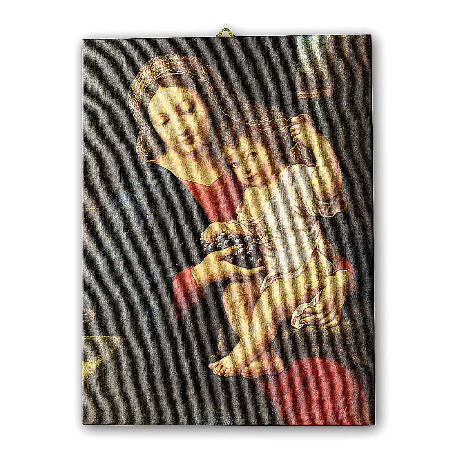 Print on canvas The Virgin of the Grapes by Pierre Mignard 25x20 cm 3