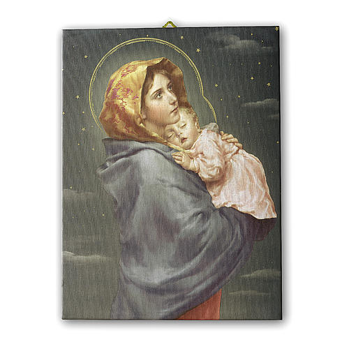 Painting on canvas Madonna of the Streets 25x20 cm 1