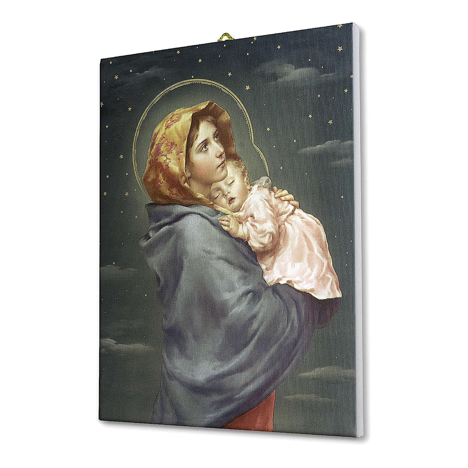 Cuadro sobre tela pictórica Virgen de Ferruzzi 25x20 cm 3