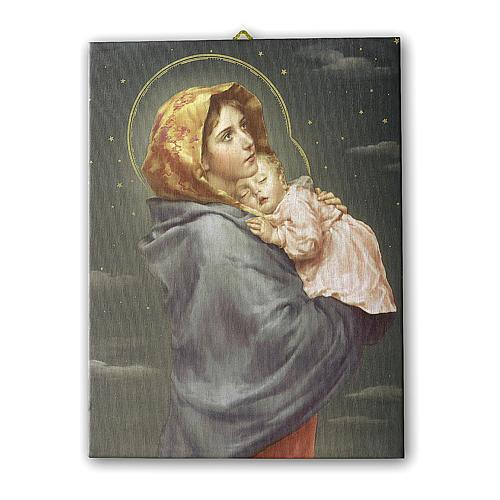 Cuadro sobre tela pictórica Virgen de Ferruzzi 25x20 cm 1
