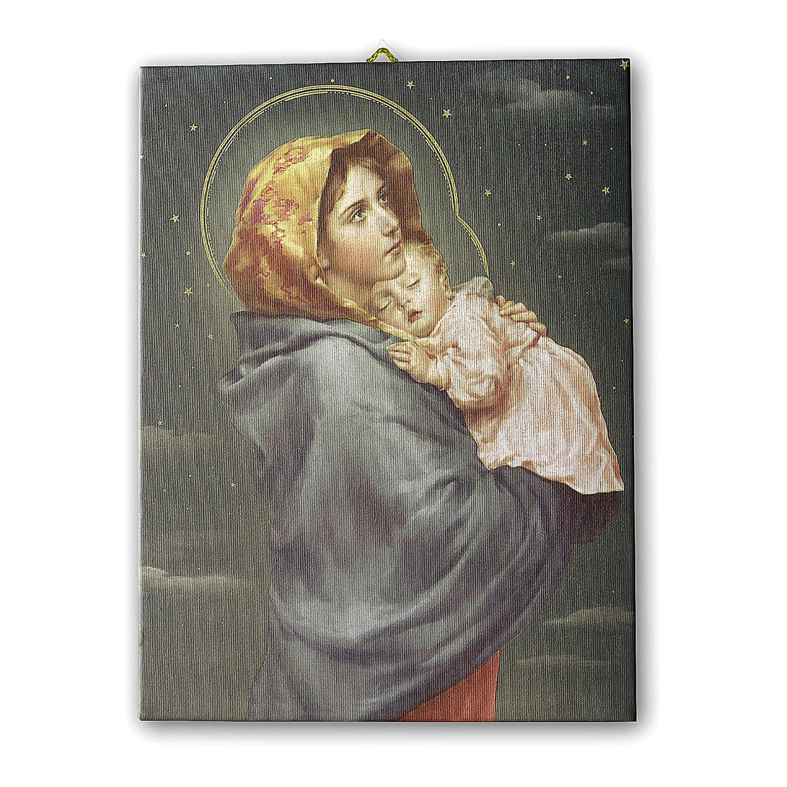 Cadre sur toile Madonnina de Ferruzzi ciel étoilé 25x20 cm 3