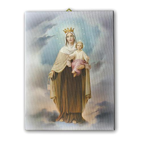 Quadro su tela pittorica Madonna del Carmine 25x20 cm 1