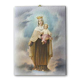 Quadro su tela pittorica Madonna del Carmine 40x30 cm s1