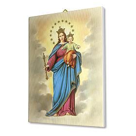 Quadro su tela pittorica Maria Ausiliatrice 25x20 cm s2