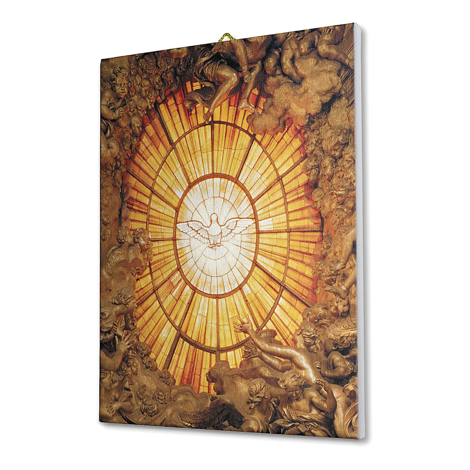 Quadro su tela pittorica Spirito Santo del Bernini 25x20 cm 3