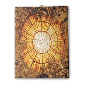 Quadro su tela pittorica Spirito Santo del Bernini 25x20 cm s1