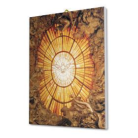Quadro su tela pittorica Spirito Santo del Bernini 25x20 cm s2