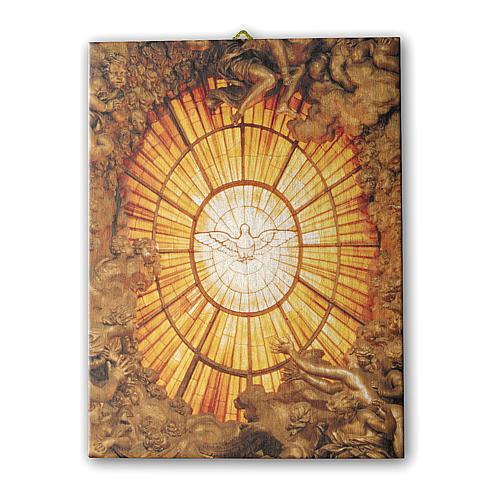 Quadro su tela pittorica Spirito Santo del Bernini 25x20 cm 1