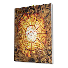 Quadro su tela pittorica Spirito Santo del Bernini 40x30 cm s2
