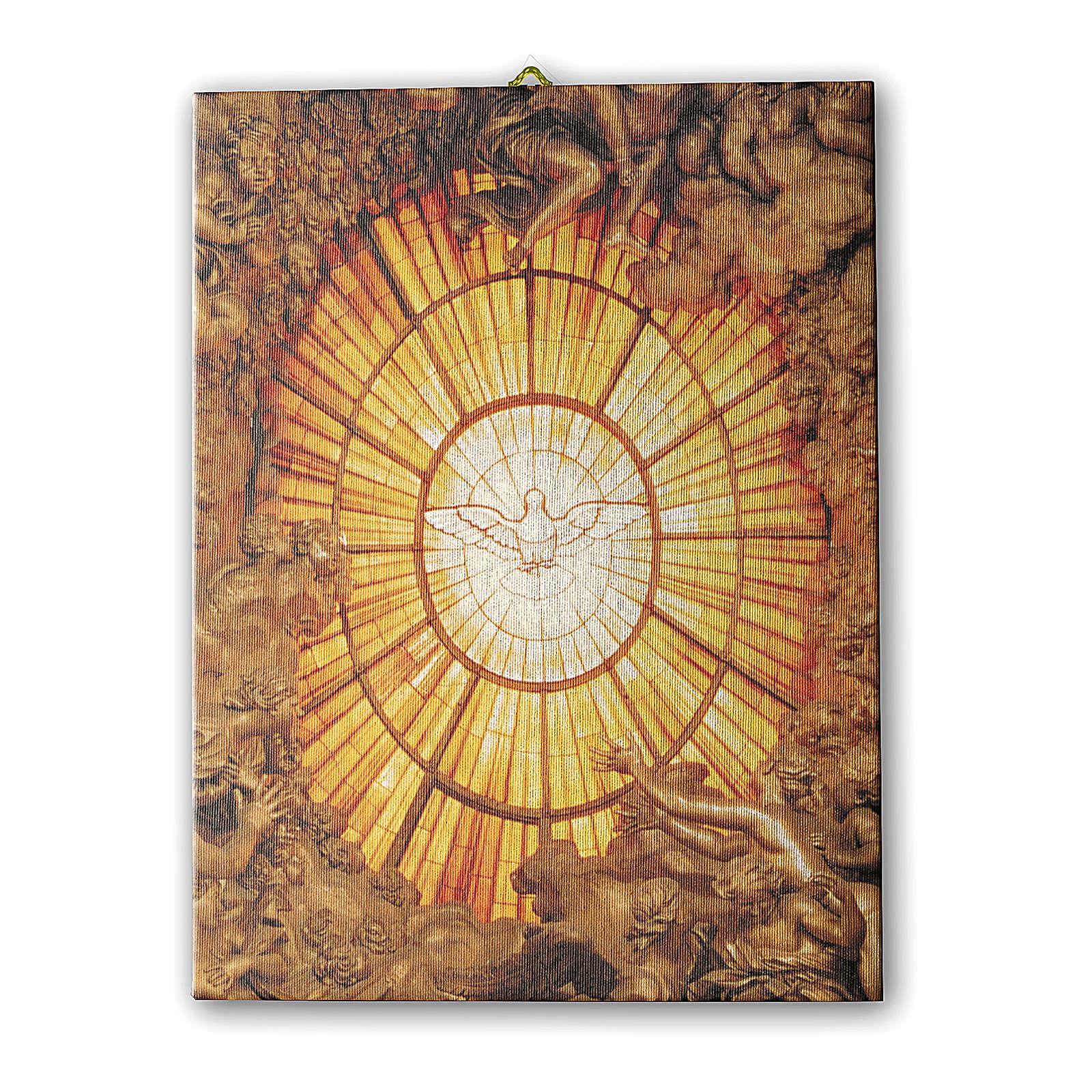 Quadro su tela pittorica Spirito Santo del Bernini 70x50 cm 3